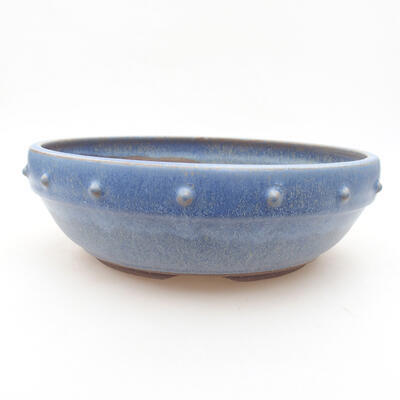 Ceramic bonsai bowl 22 x 22 x 7 cm, color blue - 1