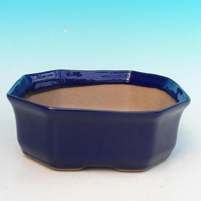 Ceramic bonsai bowl H 14 - 17,5 x 17,5 x 6,5 cm - 1