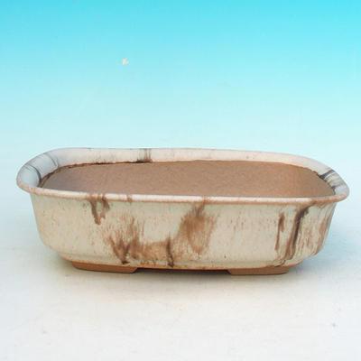 Ceramic bonsai bowl H 02 - 19 x 13,5 x 5 cm - 1