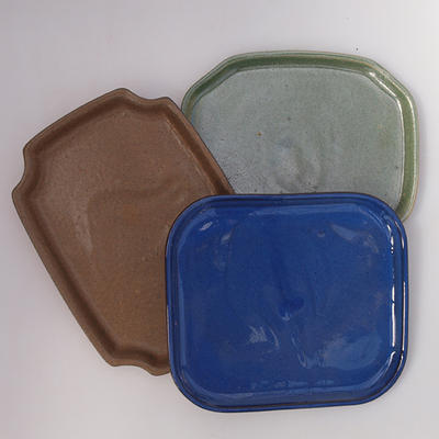 Bonsai tray B-1-pair with bonsai shape, color