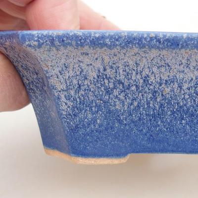 Ceramic bonsai bowl 13 x 10.5 x 4 cm, color blue - 2