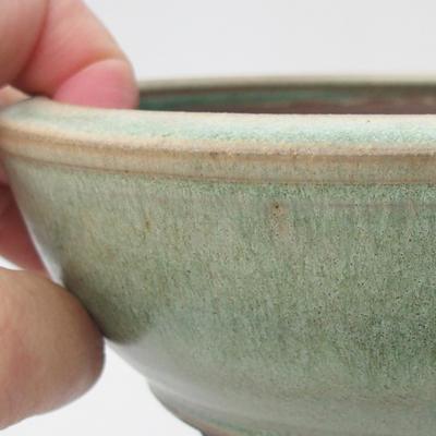 Ceramic bonsai bowl 16 x 16 x 5,5 cm, color green - 2