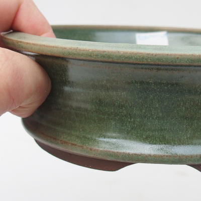 Ceramic bonsai bowl 16 x 16 x 5 cm, color green - 2