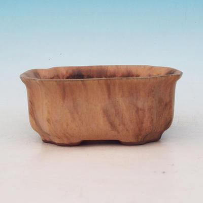 Ceramic bonsai bowl H 01 - 12 x 9 x 5 cm - 2