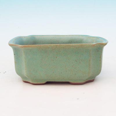 Ceramic bonsai bowl H 01 - 12 x 9 x 5 cm, blue - 12 x 9 x 5 cm - 2