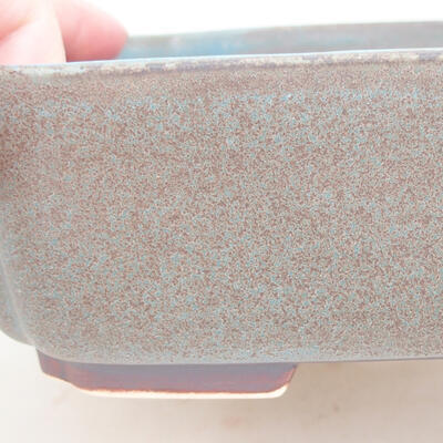 Ceramic bonsai bowl 17.5 x 14.5 x 5 cm, color blue - 2