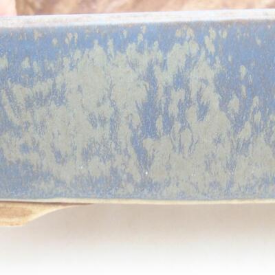 Ceramic bonsai bowl 14.5 x 11.5 x 4.5 cm, color blue - 2