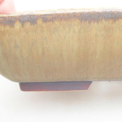 Ceramic bonsai bowl 20 x 15.5 x 5 cm, color brown-green - 2