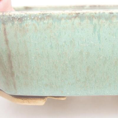 Ceramic bonsai bowl 16.5 x 14 x 5.5 cm, color green - 2