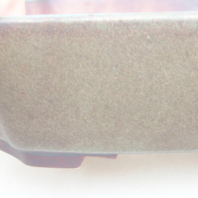 Ceramic bonsai bowl 16.5 x 14 x 5.5 cm, gray color - 2
