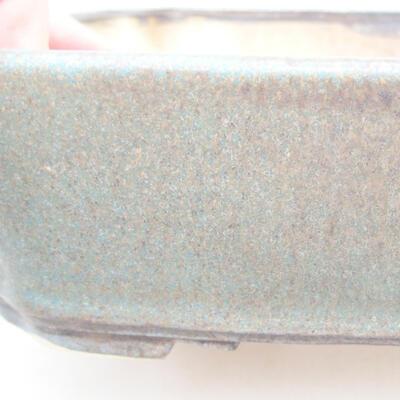 Ceramic bonsai bowl 21 x 17.5 x 5.5 cm, color blue-brown - 2