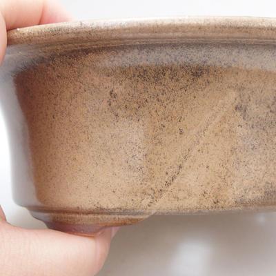 Ceramic bonsai bowl 19 x 15 x 6 cm, color brown - 2