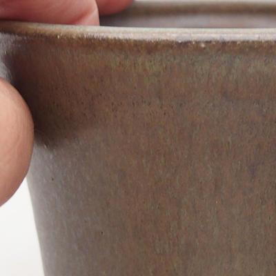 Ceramic bonsai bowl 11 x 11 x 9 cm, color brown - 2