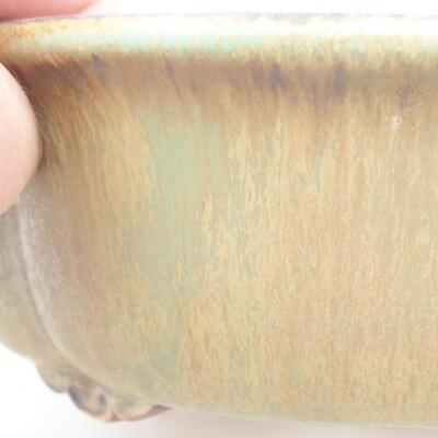 Ceramic bonsai bowl 18 x 16 x 6 cm, color green - 2