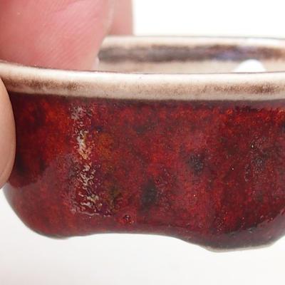 Mini bonsai bowl 4.5 x 3.5 x 2 cm, color red - 2