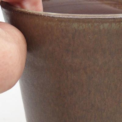 Ceramic bonsai bowl 10 x 10 x 13 cm, color brown - 2