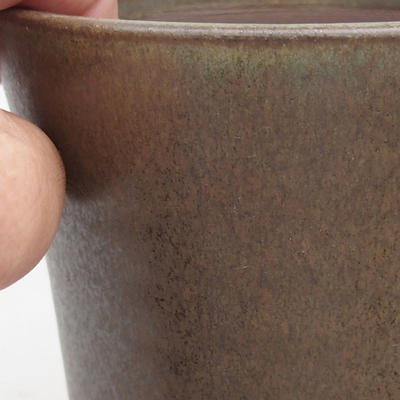 Ceramic bonsai bowl 10.5 x 10.5 x 13 cm, brown color - 2