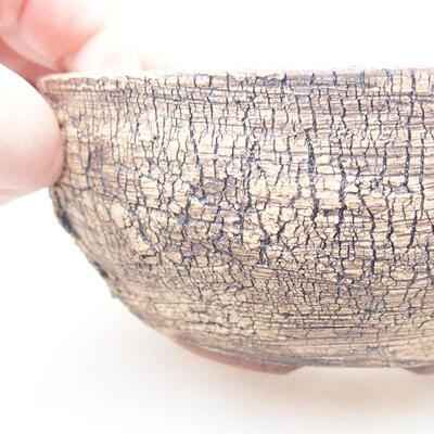 Ceramic bonsai bowl 13.5 x 13.5 x 5.5 cm, color cracked - 2