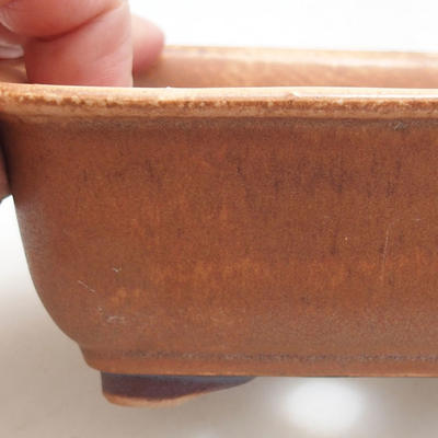 Ceramic bonsai bowl 13 x 10 x 5.5 cm, brick color - 2