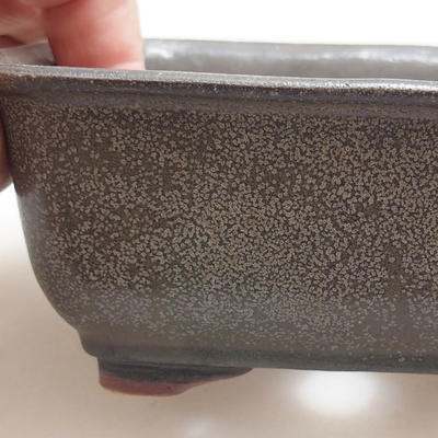 Ceramic bonsai bowl 13 x 10 x 5.5 cm, gray color - 2