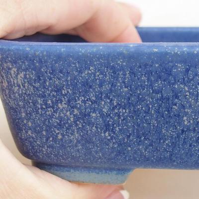 Ceramic bonsai bowl 12 x 9.5 x 3.5 cm, color blue - 2