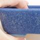 Ceramic bonsai bowl 12 x 9.5 x 3.5 cm, color blue - 2/4