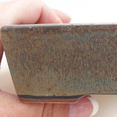 Ceramic bonsai bowl 11.5 x 8.5 x 4 cm, color blue-gray - 2