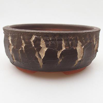 Ceramic bonsai bowl 15 x 15 x 6 cm, color cracked - 2