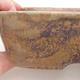 Ceramic bonsai bowl 23 x 18 x 5 cm, color brown-green - 2/4