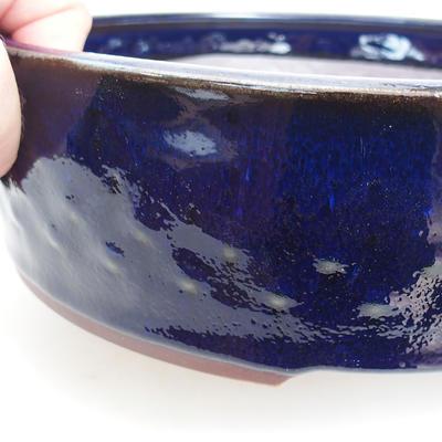 Ceramic bonsai bowl 23 x 23 x 7 cm, metal color - 2