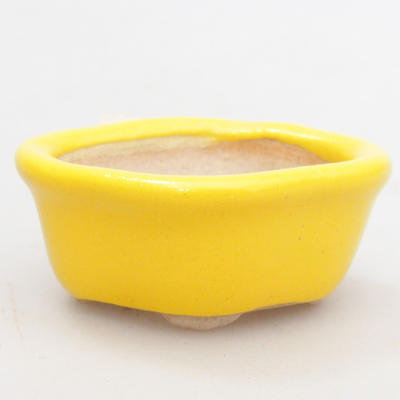 Mini bonsai bowl 4,5 x 4 x 2 cm, yellow color - 2