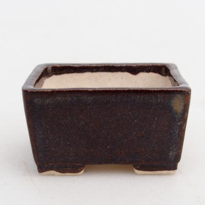 Mini bonsai bowl 4 x 3,5 x 2 cm, color brown - 2