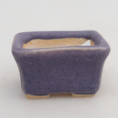Mini bonsai bowl 4 x 3,5 x 2,5 cm, color violet - 2