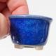 Mini bonsai bowl 4 x 4 x 3 cm, color blue - 2/3