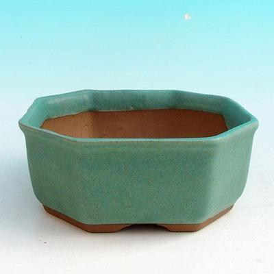 Bonsai bowl + tray H 13 - bowl11,5 x 11,5 x 4,5 cm, tray 11,5 x 11,5 x 1 cm - 2