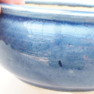 Ceramic bonsai bowl 11 x 11 x 5.5 cm, color blue - 2