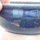 Ceramic bonsai bowl 10 x 10 x 5 cm, color blue - 2/3