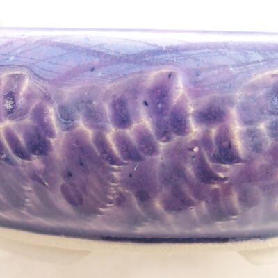 Ceramic bonsai bowl 10 x 10 x 4.5 cm, color purple - 2