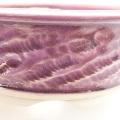 Ceramic bonsai bowl 11 x 11 x 4.5 cm, color purple - 2