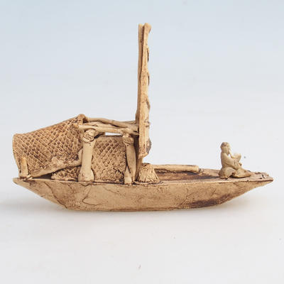 Ceramic figurine - ship - 2