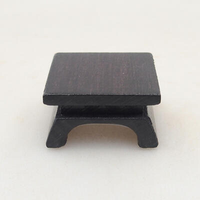 Wooden table under the bonsai brown 3 x 3 x 1.5 cm - 2