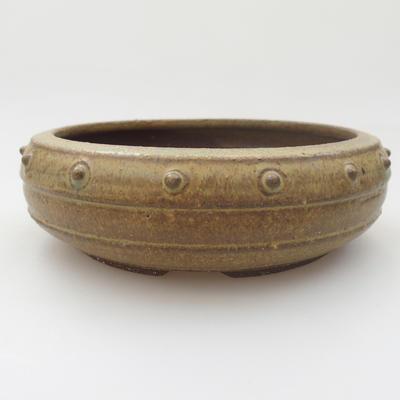 Ceramic bonsai bowl - 16 x 16 x 5 cm, color green - 2