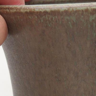 Ceramic bonsai bowl 10 x 10 x 9.5 cm, color brown-green - 2