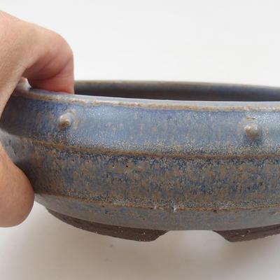 Ceramic bonsai bowl - 15 x 15 x 5 cm, color blue - 2