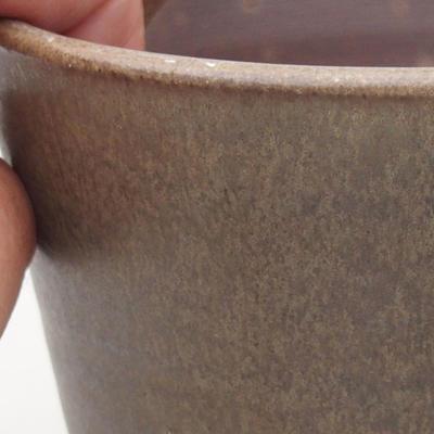Ceramic bonsai bowl 10.5 x 10.5 x 10 cm, color brown-green - 2