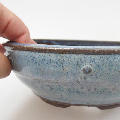 Ceramic bonsai bowl - 18 x 18 x 6 cm, color blue - 2
