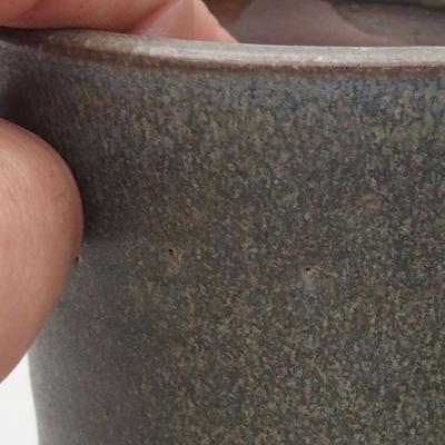 Ceramic bonsai bowl 9 x 9 x 10.5 cm, gray color - 2