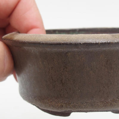 Ceramic bonsai bowl 8 x 8 x 3,5 cm, color green - 2