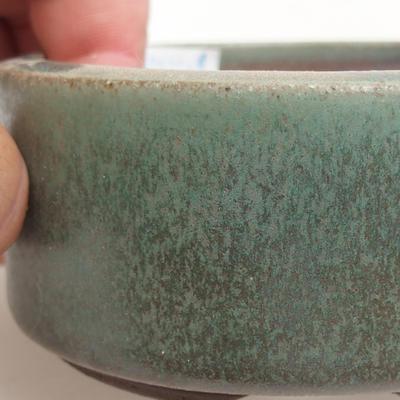 Ceramic bonsai bowl 8.5 x 8.5 x 4 cm, color green - 2