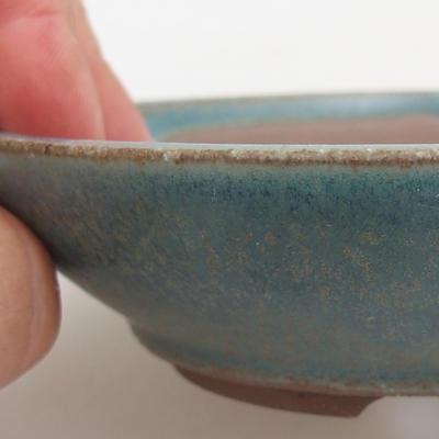 Ceramic bonsai bowl 12 x 12 x 3,5 cm, color green - 2